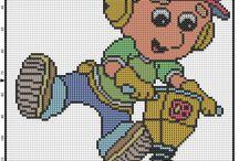 Cartoni animati schemi punto croce / Cartoni animati schemi punto croce