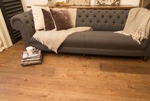 Wide engineered oak flooring / Wide engineered oak floor boards.