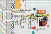 Blog Trains / New blog trains where you can find free digital scrapbooking supplies from multiple designers that coordinate around one theme.