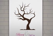 Kanvas Parmak İzi Anı Ağacı / Düğün hatıra defterlerine alternatif olarak kullanacağız parmak izi tablolar özel günlerizde sevdiklerizden size anı olarak kalacak.