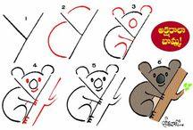 Kreatív rajzok betűvel