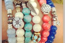 TIFFANY JAZELLE / Tiffany Jazelle is a bracelet line made up of semi precious stones and meaningful charms in sterling and pewter.  $49.99 Each