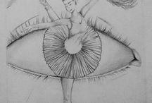 kresba oči