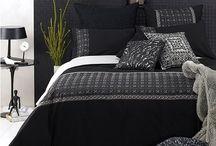 Black and White Decorating / Black and white fabrics and decor