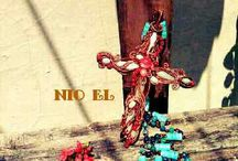 Wire Jewelry / Cross pendant wire by NiO-EL