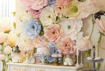 Бумажные цветы, muro di fiori