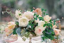 ivory/peach/blush / garden style bridal bouquets, centrepieces,arrangements