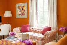 Bold inteiors / Using bright colors to create bold and fun interiors