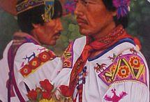 Culturas Indígenas Mexicanas /  Comisión Nacional para el Desarrollo de los Pueblos Indígenas (CDI,actualmente en 2012 la población indígena era de aproximadamente 15 millones de personas, repartidas en 56 grupos étnicos. En México existen alrededor de 65 pueblos indígenas que hablan entre sesenta y dos y más de una centena de lenguas diferentes (dependiendo de la fuente consultada). / by Carlos Garcia