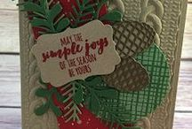 layered christmas cards
