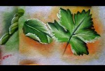 Pintando Folhas