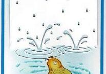 Puddles rain cards