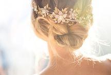 Blumen Haar hochzeit