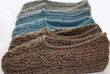 slippers knitting patterns