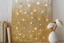 Cool Stuff I Like / Glitter Ombré Fairylight Canvas