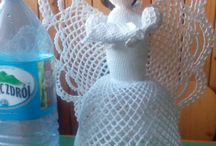 Szydełkowy anioł.  https://www.facebook.com/Szydełkowe-różności-Ireny-Crochet-1457868571205627/ / Anioły, mojego wykonania.  Źródło inspiracji.    http: //handmade-paradise.ru/shemyi-azhurnyih-angelov-kryuchkom/