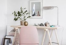 Small Scandi inspired workspace/ office / desk / Contemporary Scandi inspired workspace/ office/ desk for a small space. Ideas, product suggestions..