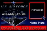 All Military Branches' Welcome Home Banners / Make your soldier's homecoming even more spectacular with a stunning full color vinyl banner to commemorate the occasion.  #militaryBanners