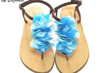 Sandals-Handmade Leather Sandals 2015 / by Handmade Shoes By Elizabeth