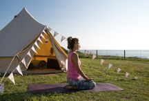 Yoga Glamp : A Weekend Retreat by The Sea / Run away to the sea and escape the chaos of everyday life. We welcome you with open hearts to our beautiful coastline for a weekend of friends, yoga, glamping, surf, food and meditation.
