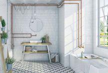 Baños con cerámica