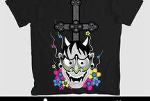 T-shirts / Algumas criações para a venda dos seguintes produtos.