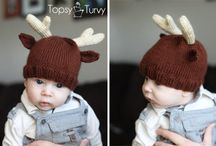 knitted baby christmas hats