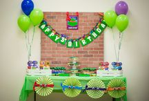 TMNT Party / TMNT Party Ideas by Southern Belle's Charm http://www.southernbellescharm.com/2015/06/tmnt-party-high-3-for-joel-jaret.html