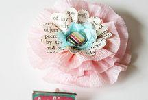 Paper flowers/ papieren bloemen