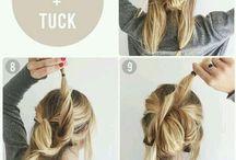 .Hair style.