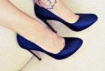 Tacones azules