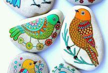 sassi da colorare e dipingere