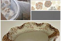 Chiffons et Porcelaine - Déco porcelaine et textile / la gamme chiffons et porcelaine mêle avec harmonie l'univers du textile à celui de la porcelaine.  Douceur et élégance