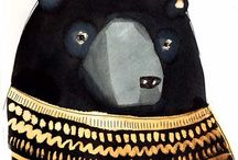 BEARS / Illustrations, art, ceramics, sculptures, of bears