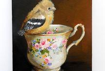 Bird Teacups