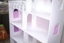 casas de muñecas y muñecas