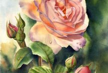 цветы в рисовании