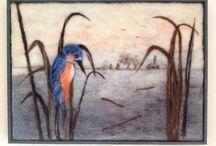 Wolschilderijen / Met losse plukjes wil en een speciale naald maak je de prachtigste schilderijen.