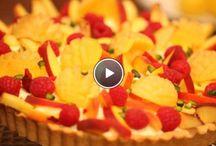 Pudding vlaai met fruit