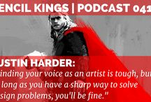 Pencil Kings Podcasts / Inspiring and motivating podcast interviews from artists all over the world