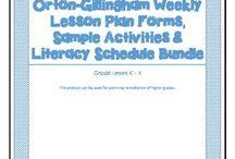 Orton Gillingham / Materials and tips for teaching OG