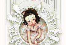 Alice in W:Art/Trevor Brown / Alice in wonderland, (illustrator)