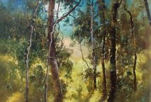 The Art Of Trees. Red Hill Gallery, Brisbane. redhillgallery.com.au / Art of Trees , paintings by artists represented by Red Hill Gallery, Brisbane. redhillgallery.com.au