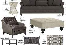 Monochromatic living room