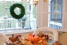 Autumn table centerpieces