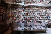 Library Inspiration Design  / We love our library.  Books on the floor, in shelves, on shelves, piles and layers.  The more books, the merrier!