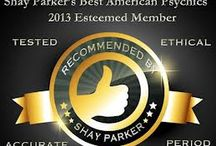 Shay Parker's Best American Psychics / Shay Parker's Best American Psychics is a company dedicated to promoting ethical individuals working in the metaphysical fields. We are a directory that screens and tests our Tested Members before inclusion on our site. We have psychics available for Immediate Psychic Readings online.