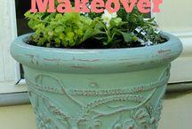 Nuwe huis - plant potte verf