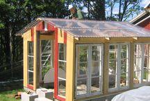 Drivhus av gamle vinduer