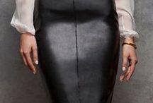 Look jupe cuir